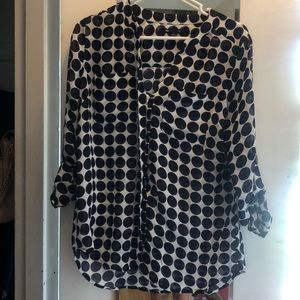 Polka dot blouse from the Gap